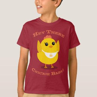 Hey lá bebê de Chickie - miúdos Tagless Camiseta