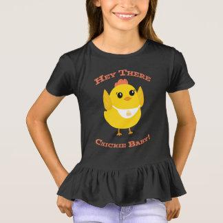 Hey lá bebê de Chickie - t-shirt do plissado Camiseta