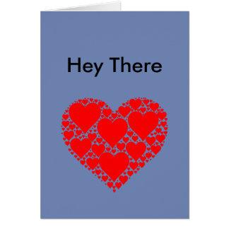 Hey lá cartão do Fractal do coração