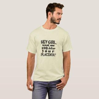 Hey menina, pai do nascimento home, OB, camisa da
