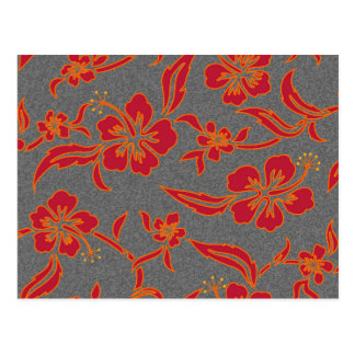 Hibiscus alaranjado cartão postal