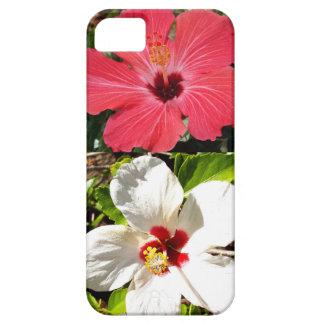 Hibiscus cor-de-rosa e brancos capa para iPhone 5