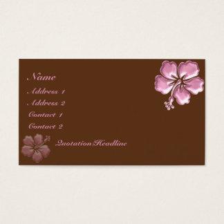 Hibiscus cor-de-rosa e chocolate do KRW elegantes Cartão De Visitas