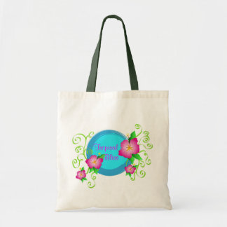 Hibiscus cor-de-rosa - saco sacola tote budget