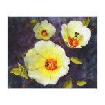 Hibiscus do deserto impressão de canvas envolvida