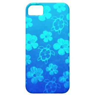 Hibiscus e tartarugas azuis de Honu Capa Para iPhone 5