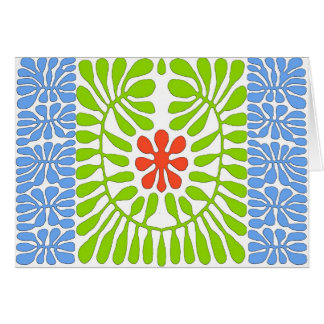 Hibiscus, folha da homenagem de Matisse Cartão Comemorativo