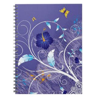 Hibiscus. Redemoinhos e borboleta Caderno