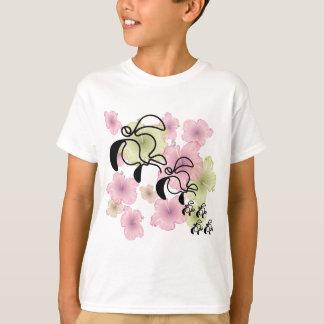 Hibiscus-Tartaruga-Família Camiseta