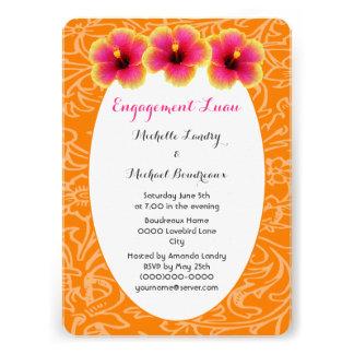 Hibiscus tropical brilhante convites