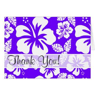 Hibiscus tropical do índigo elétrico cartão