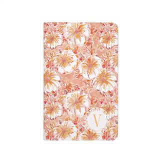 Hibiscus tropical do pêssego do monograma diário