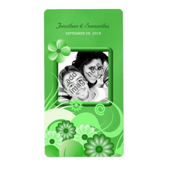 Hibiscus verde que Wedding a etiqueta grande do Etiqueta De Frete