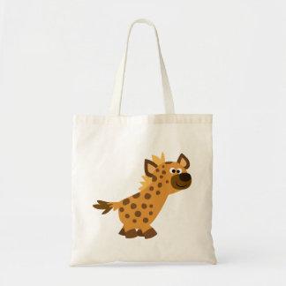 Hiena de passeio bonito dos desenhos animados bolsa tote