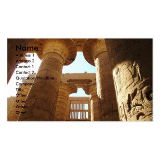 Hieroglyphics de Pharaohnic, imagem do templo de Cartão De Visita