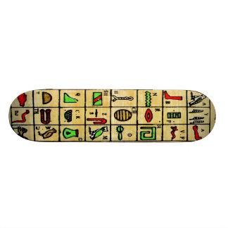 Hieroglyphics egípcios, símbolos alfabéticos shape de skate 20,6cm