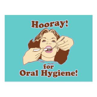 Higienista dental do dentista cartão postal