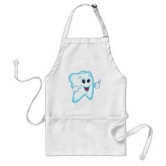 Higienista dental engraçado avental