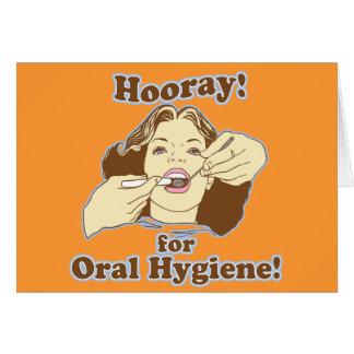 Higienista dental engraçado cartao