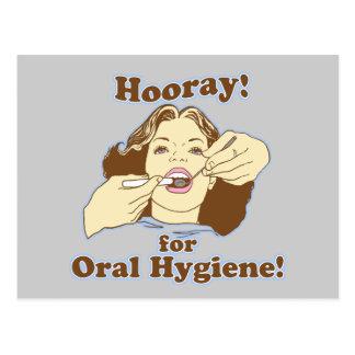 Higienista dental engraçado cartão postal
