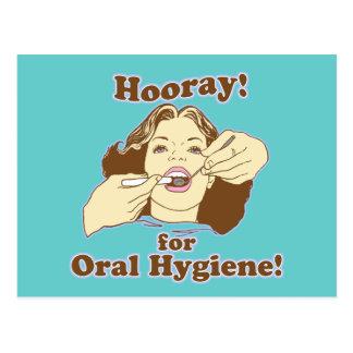 Higienista dental engraçado cartao postal