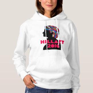 Hillary 2016: O Hoodie retro das mulheres do Moletom