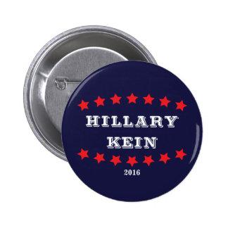 Hillary Clinton e botão do azul de Tim Kaine 2016 Bóton Redondo 5.08cm