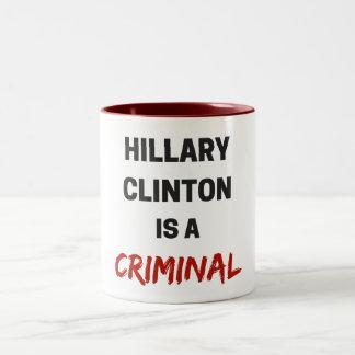 hillary clinton é uma caneca criminosa