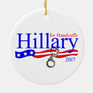 Hillary Clinton no ornamento da árvore de Natal da