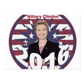 Hillary Clinton para o presidente 2016 Cartão De Visita Grande