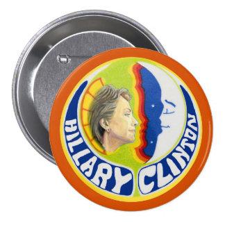 Hillary Clinton quer a lua Bóton Redondo 7.62cm