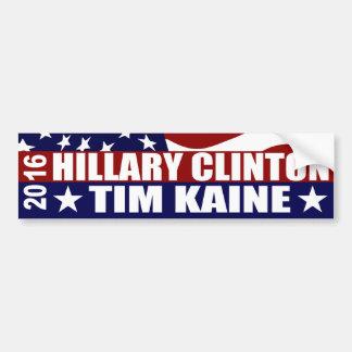HILLARY CLINTON TIM KAINE 2016 ADESIVO PARA CARRO