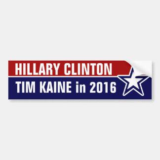 Hillary Clinton Tim Kaine em 2016 Adesivo Para Carro