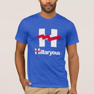 HILLARY CURVADA É HILLARYOUS - psd - Anti-Hillary Camiseta