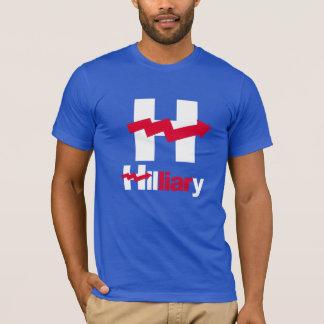 HILLARY CURVADA É um MENTIROSO - - Anti-Hillary -- Camiseta