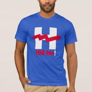 Hillary curvada H - - Anti-Hillary -- Camiseta