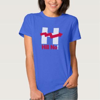 Hillary curvada H - - Anti-Hillary -- T-shirt