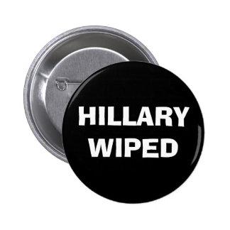Hillary limpou - o escândalo do servidor do email bóton redondo 5.08cm