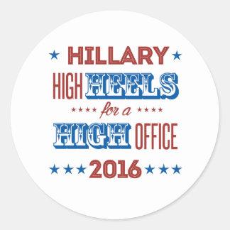 Hillary - saltos altos para um alto cargo - adesivo