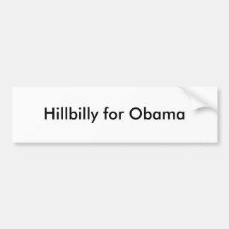 Hillbilly para Obama Adesivo Para Carro