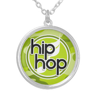 Hip Hop camo verde-claro camuflagem Colares Personalizados