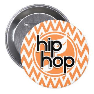 Hip Hop Chevron alaranjado e branco Boton