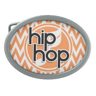 Hip Hop Chevron alaranjado e branco