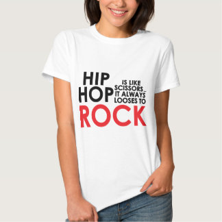Hip Hop contra a rocha Camisetas