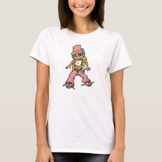 hip hop girl in pink camiseta