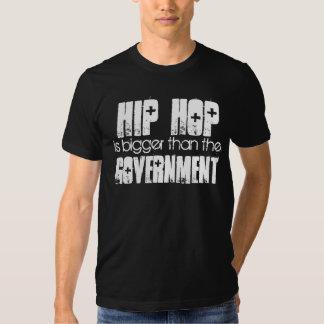 HIP HOP mais grande do que o preto do governo Camisetas