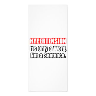 Hipertensão… não uma frase modelos de panfletos informativos
