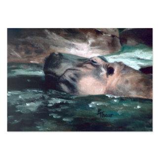 Hipopótamo Artcard Cartão De Visita Grande