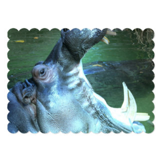 Hipopótamo Convite Personalizado