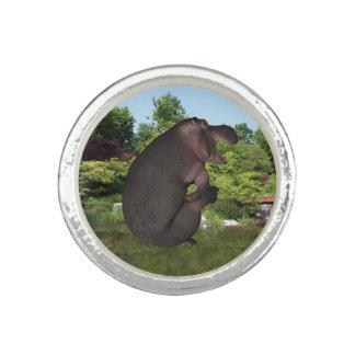 Hipopótamo da bala de canhão anéis